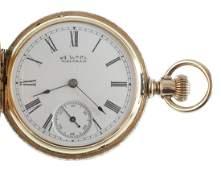 Ladies American Waltham Gold Pocket Watch