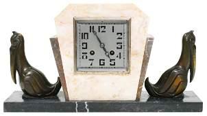 Vintage Art Deco Clock w Pelicans