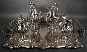 Portuguese Baroque-style .833 Silver Tea Service