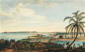 18C Durnford Engraving of Havana Cuba