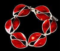 David Andersen Sterling Guilloche Bracelet