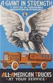 All-American Trucks Advertising Poster, 1920s