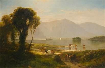 JOHN WILLIAM CASILEAR Hudson River Landscape