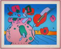 PETER MAX, Lithograph, Flowers