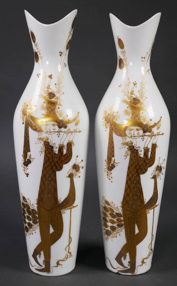BJORN WIINBLAD, Pair Rosenthal Vases