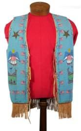 Native American Bead Vest, SIOUX Pine Ridge
