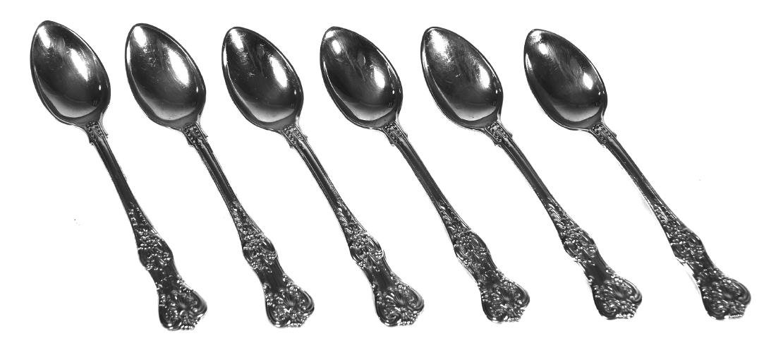 (6) TIFFANY & CO Sterling Silver Demitasse Spoons