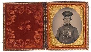 Ambrotype Photograph, Police Lieutenant, 1850s