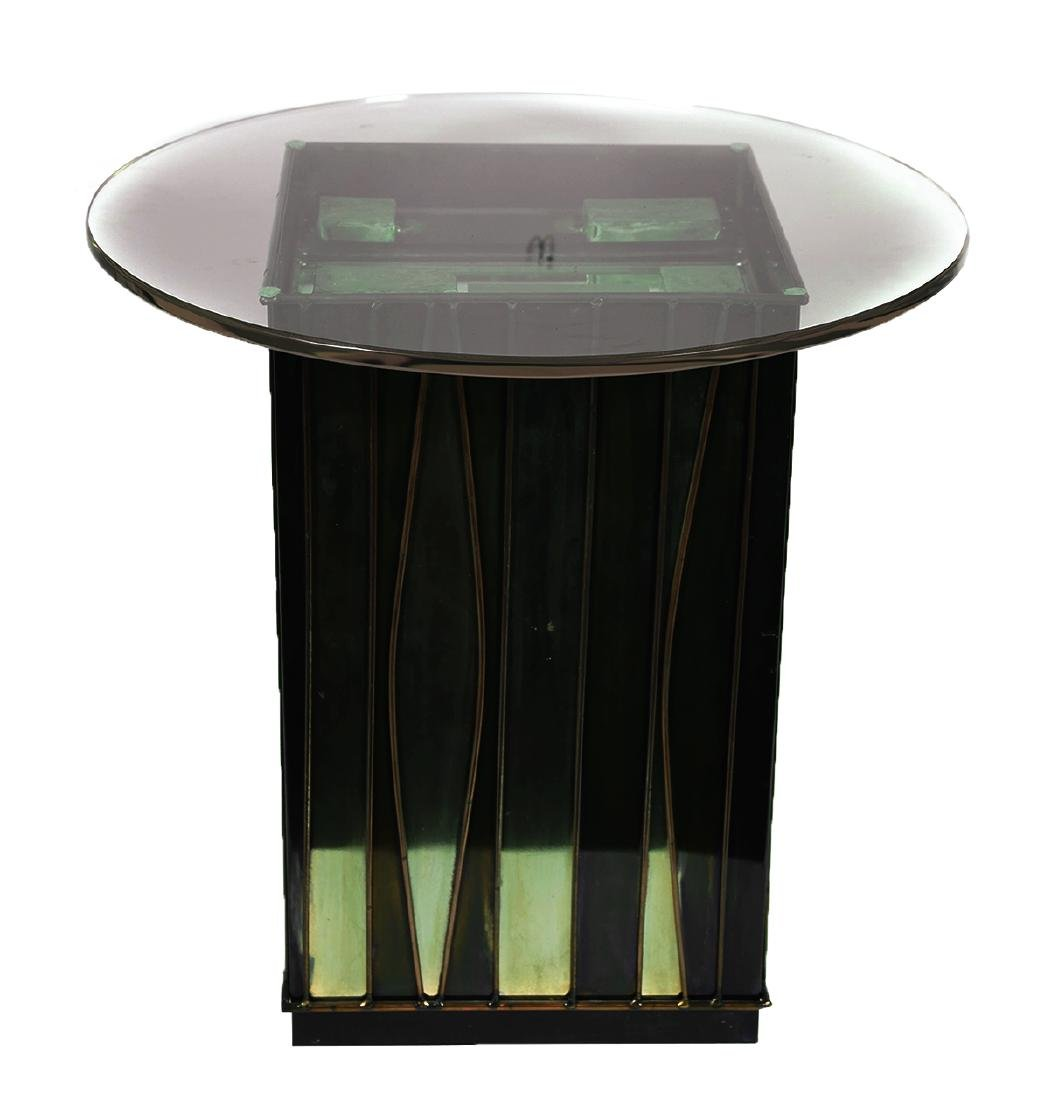 C. JERE, Brass & Glass Side Table