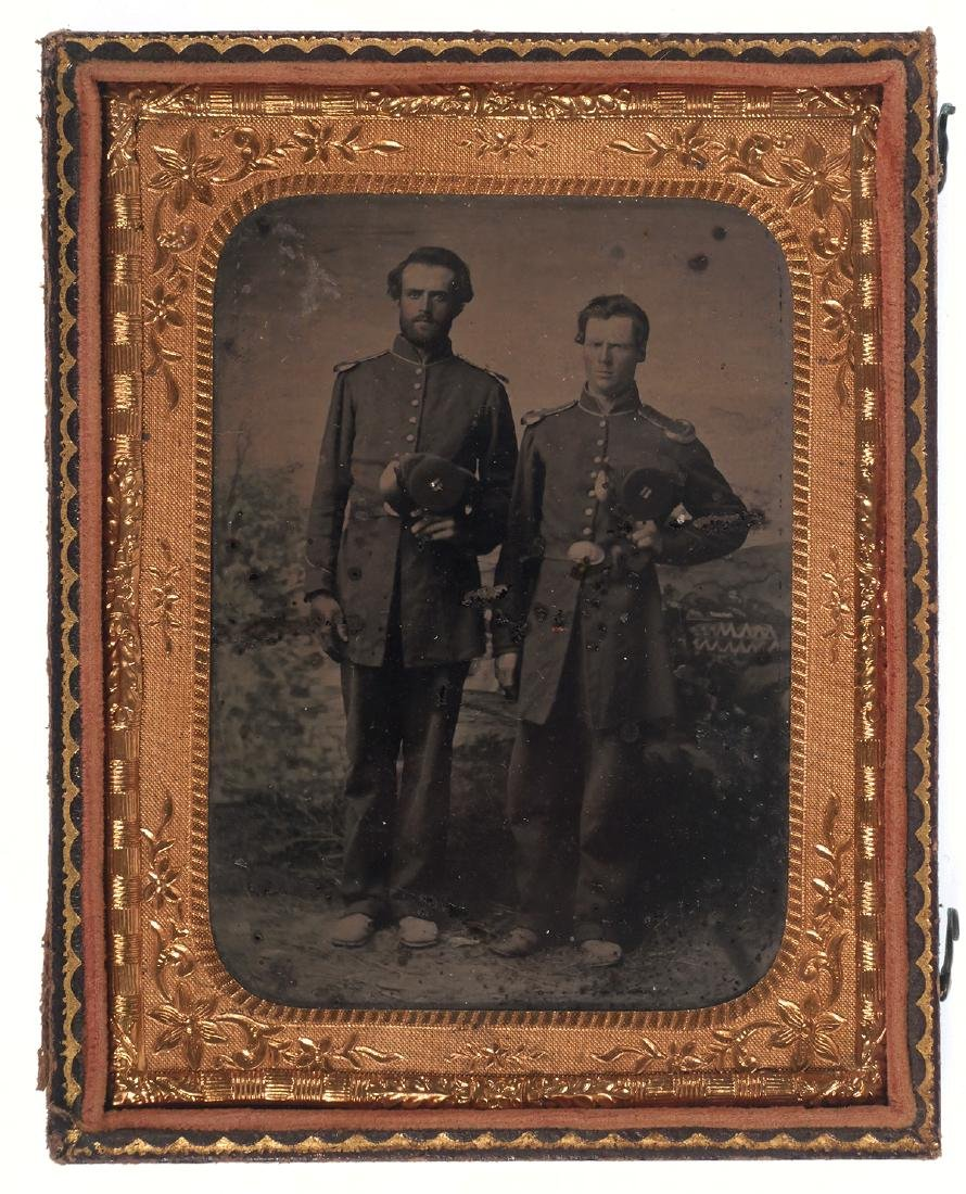 Tintype of 2 Soldiers, Possibly Brothers