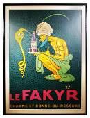 MICHEL LIEBEAUX, Le Fakyr Poster, 1921