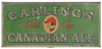 CARLING'S Red Cap Ale Tin Litho Sign