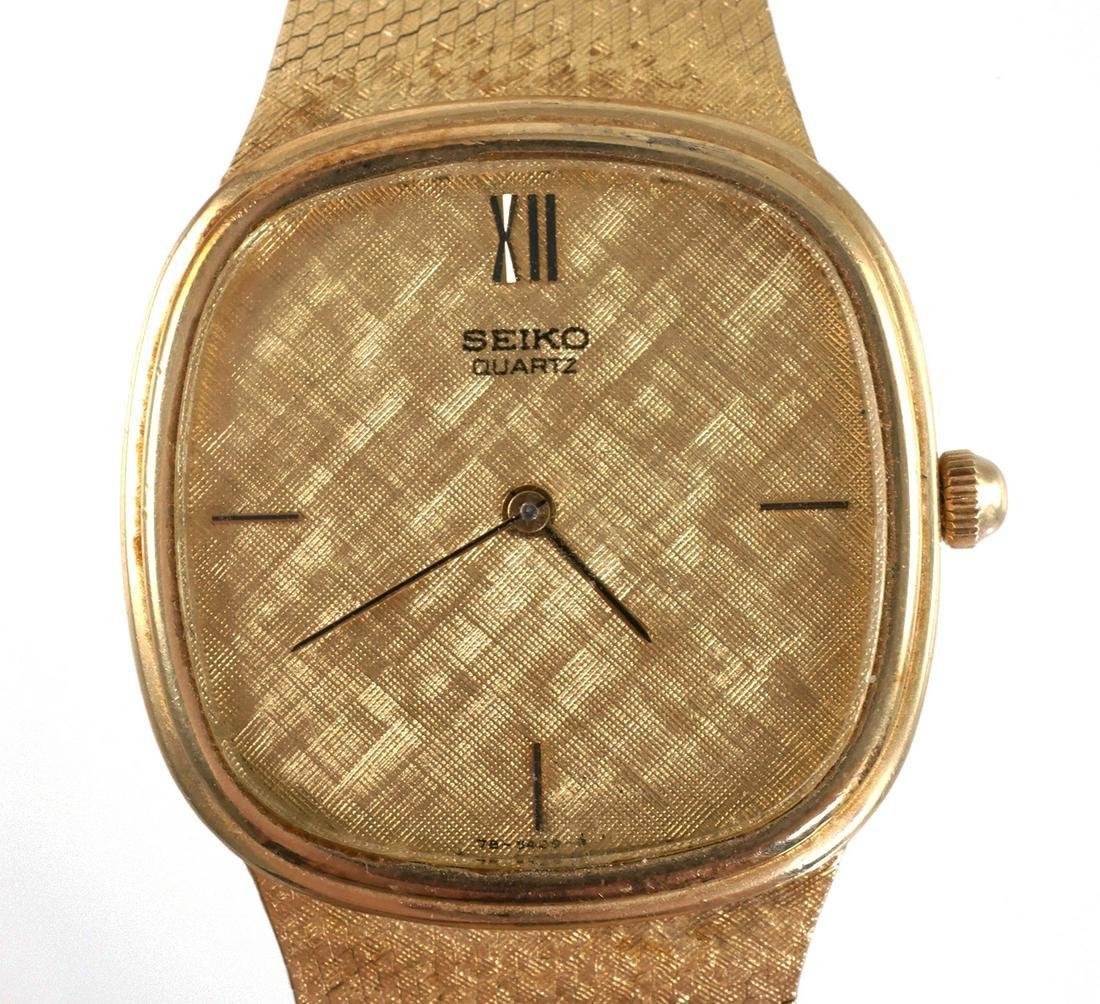 Seiko 14k Gold Mens Watch & Bracelet