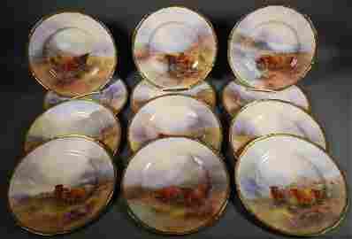 (12) Royal Worcester Stinton Cabinet Plates