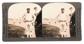 BABE RUTH in St. Petersburg, Stereoview