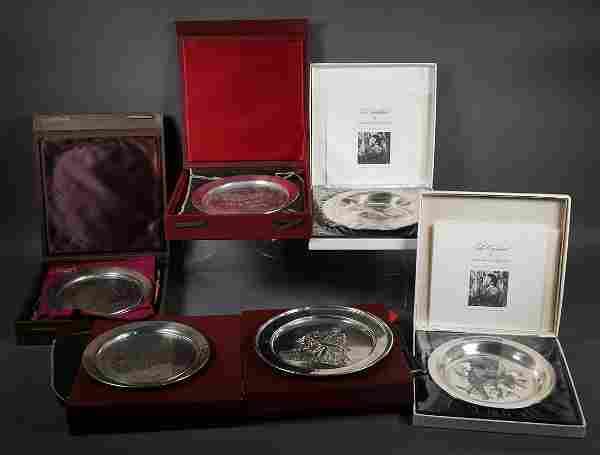 (6) Sterling Silver Collector's Plates
