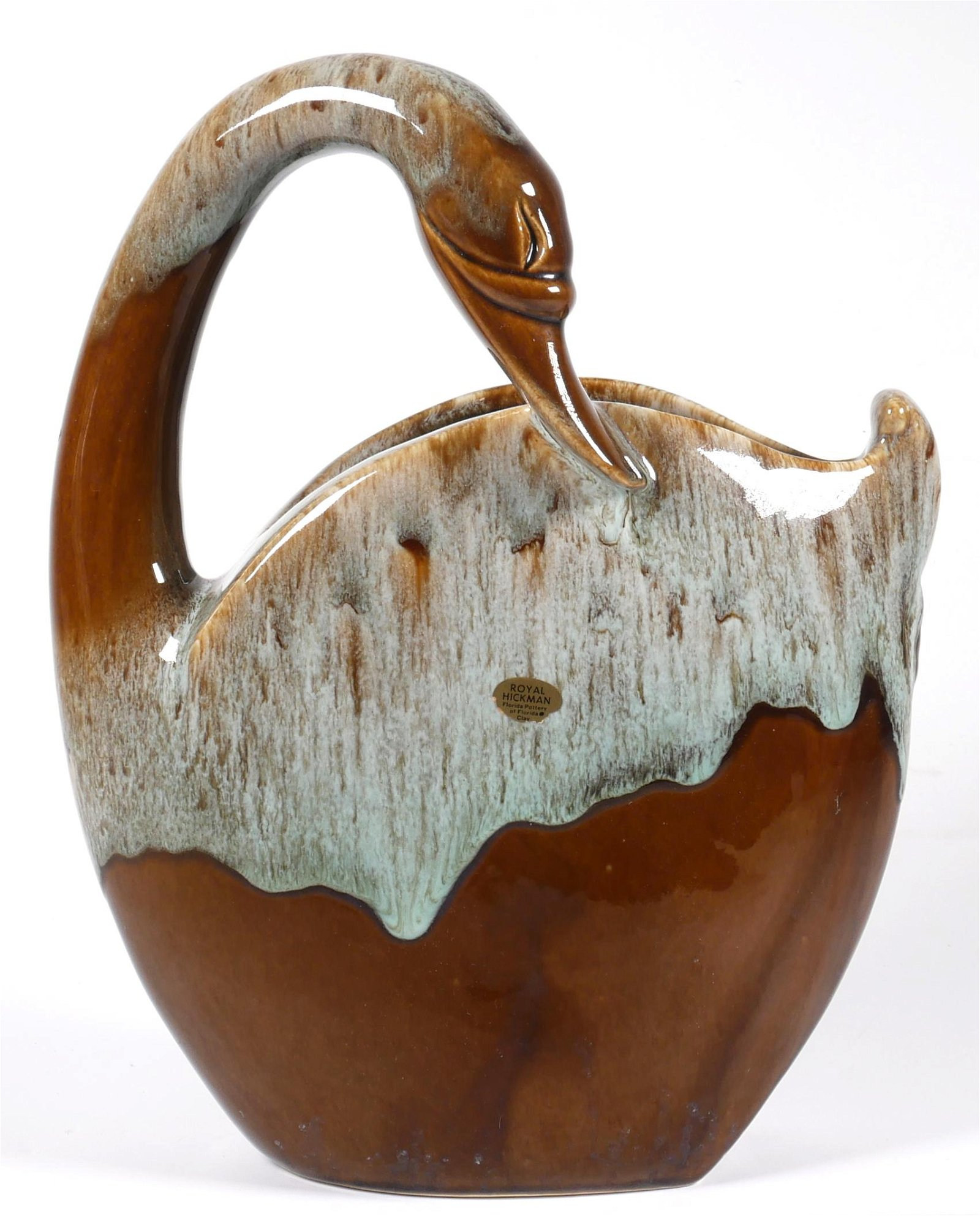 ROYAL HICKMAN Art Pottery #624R Swan Vase