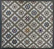 Antique MARINER'S COMPASS Quilt, 98 x 98
