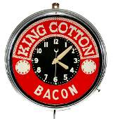 KING COTTON BACON 1940s Electric Wall Clock