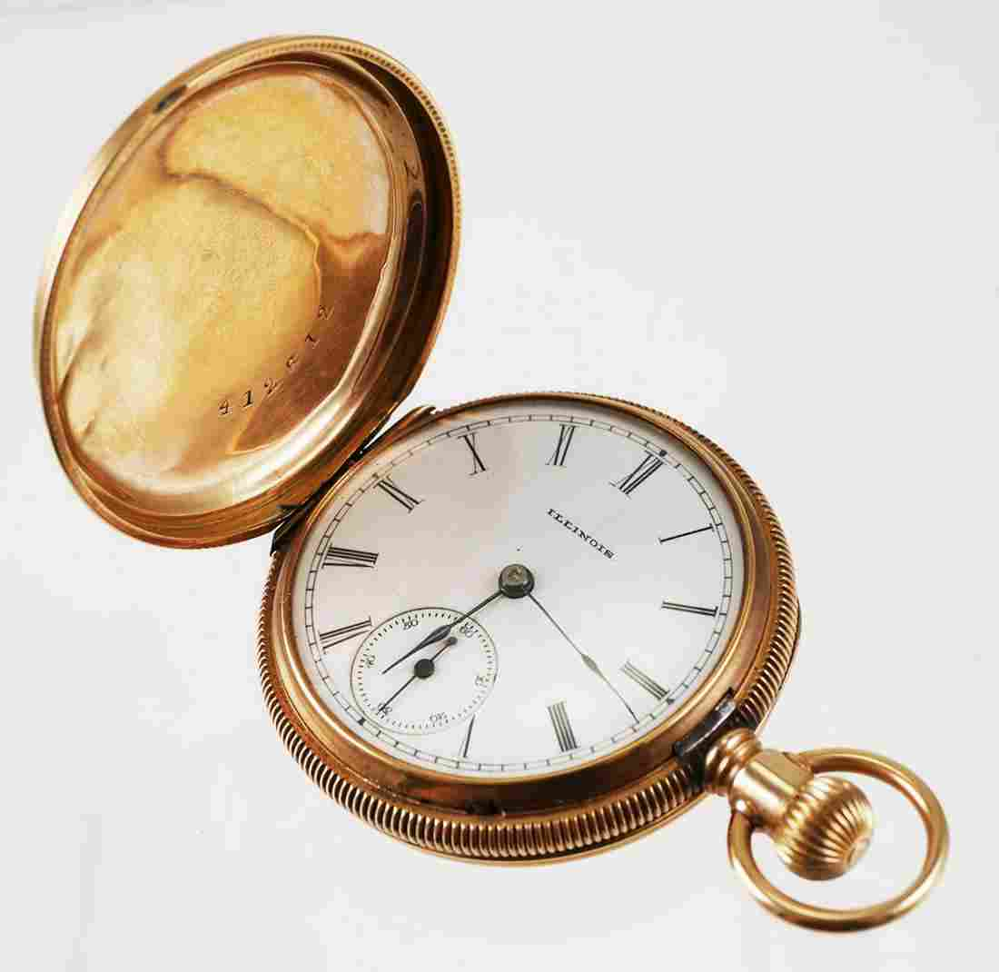 14k Gold Illinois Ladies Pocket Watch