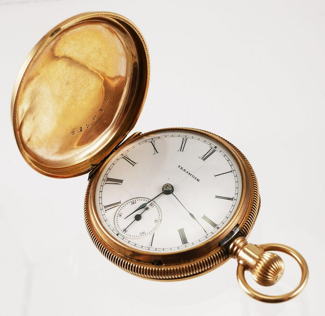 14k Gold Illinois Ladies Pocket Watch