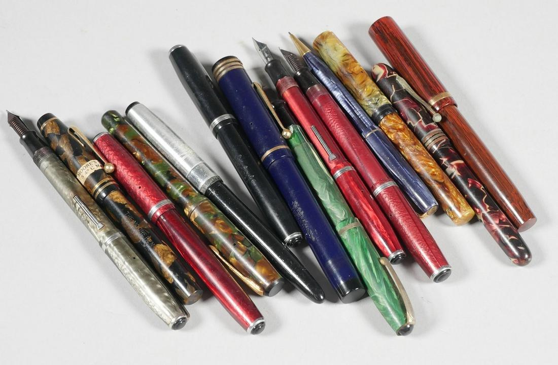 (14) Vintage Fountain Pens Waterman Easterbrook