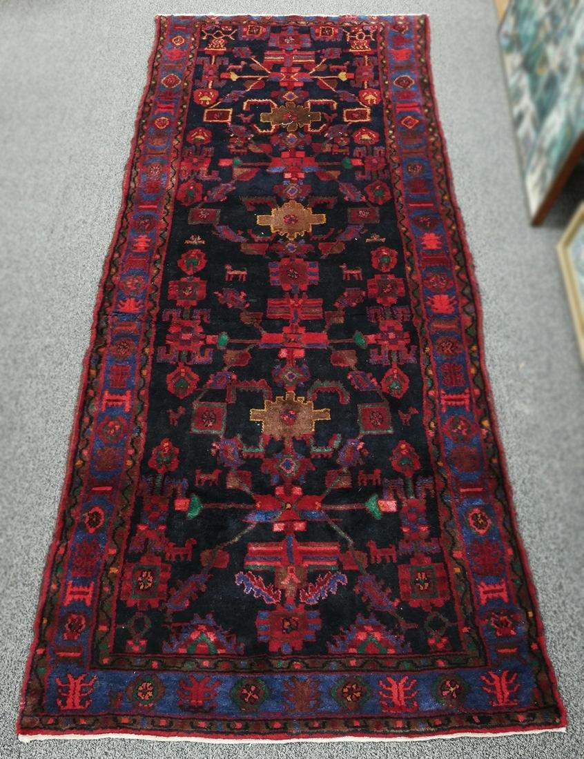 Hand Knotted HERIZ SERAPI Oriental Persian Runner