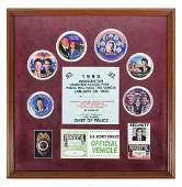 BILL CLINTON, Inauguration Badge & Credentials