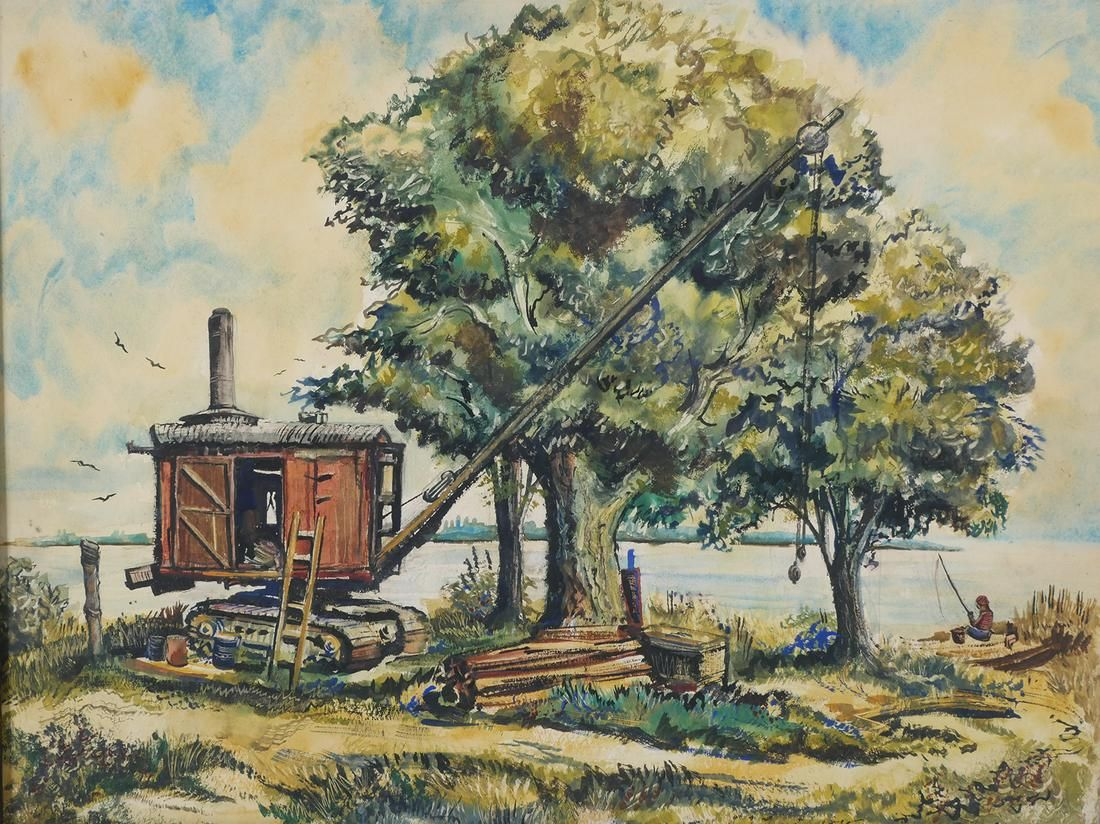 JAMES HARRIES, WPA Watercolor Landscape