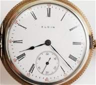 Antique ELGIN Sterling Hunter Pocket Watch
