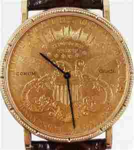 1898 Double Eagle Gold Coin Corum Quartz Watch
