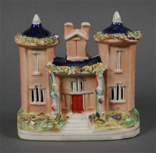 Antique Staffordshire Porcelain Castle