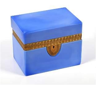 Opaline Glass Dresser Vanity Jewelry Box
