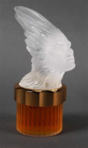 Lalique Crystal Pour Homme Phoenix Perfume Bottle