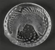 Lalique France Concarneau Koi Fish Ashtray