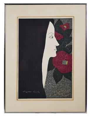 KIYOSHI SAITO, Woodblock Portrait