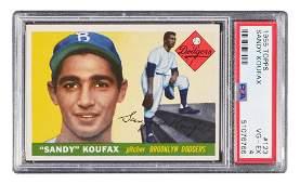 1955 Topps SANDY KOUFAX Rookie Card #123 PSA 4