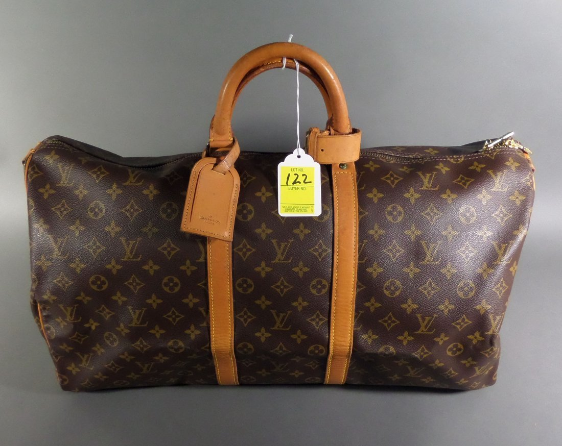 LOUIS VUITTON travel bag, Keep All 55, LV monogrammed