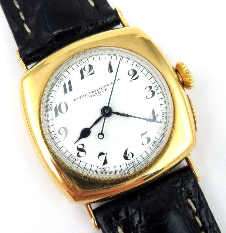 PATEK PHILIPPE Vintage Man's Wristwatch, 18k Gold, 1925