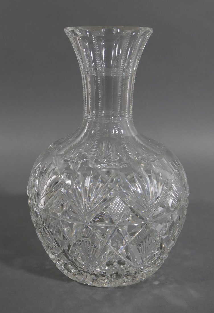 HAWKES Brazilian Cut Glass Water Carafe Decanter