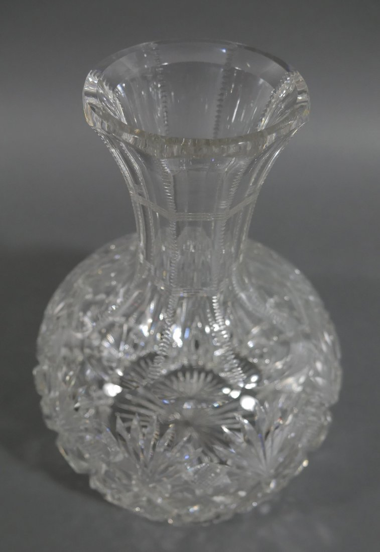 HAWKES Brazilian Cut Glass Water Carafe Decanter - 2