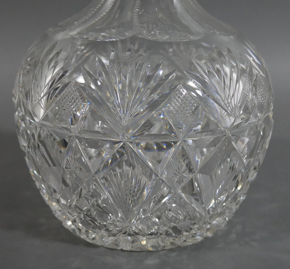 HAWKES Brazilian Cut Glass Water Carafe Decanter - 3
