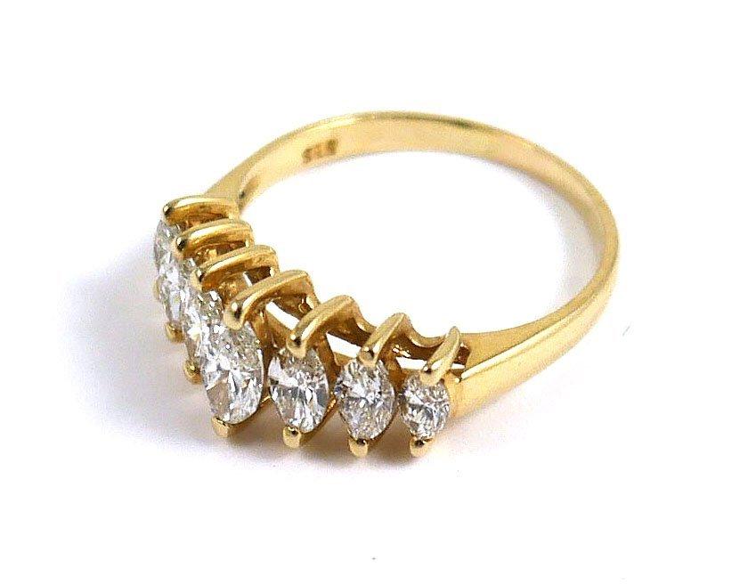 14k Yellow Gold Marquis DIAMOND RING, 1 ct - 3