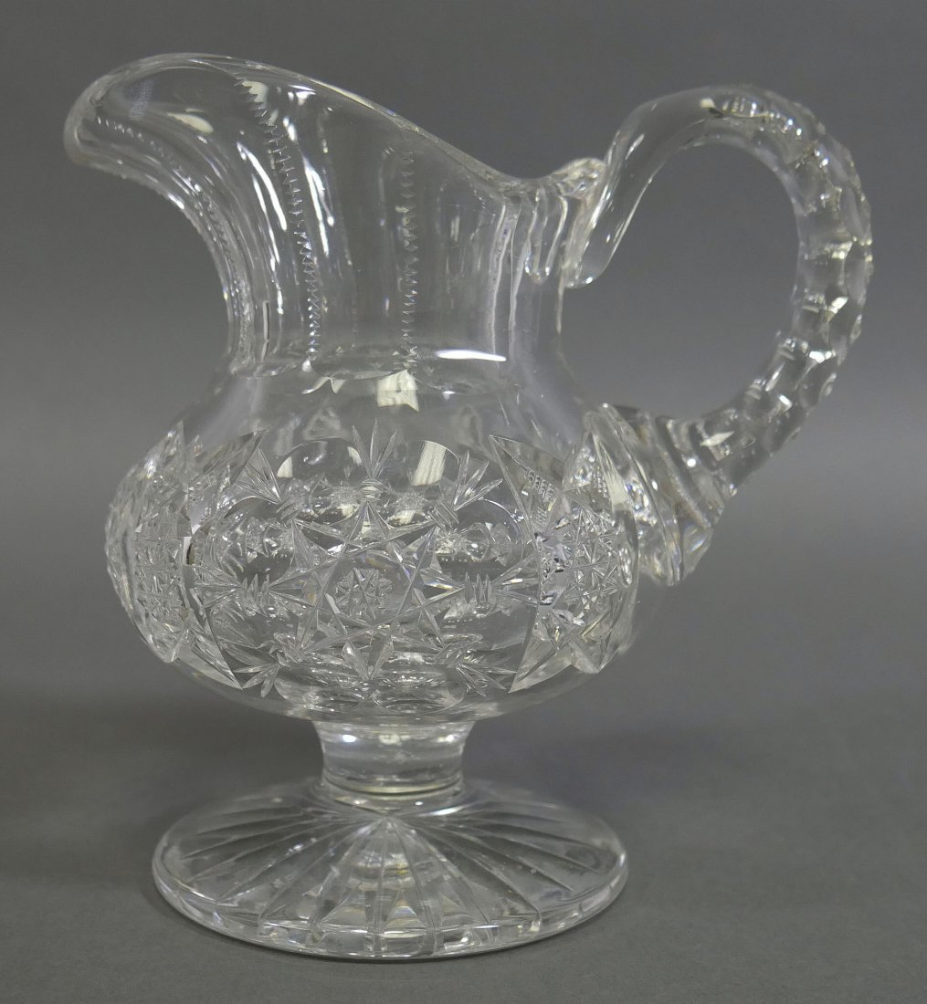 TUTHILL ABP Cut Glass FOOTED Creamer & Sugar - 4