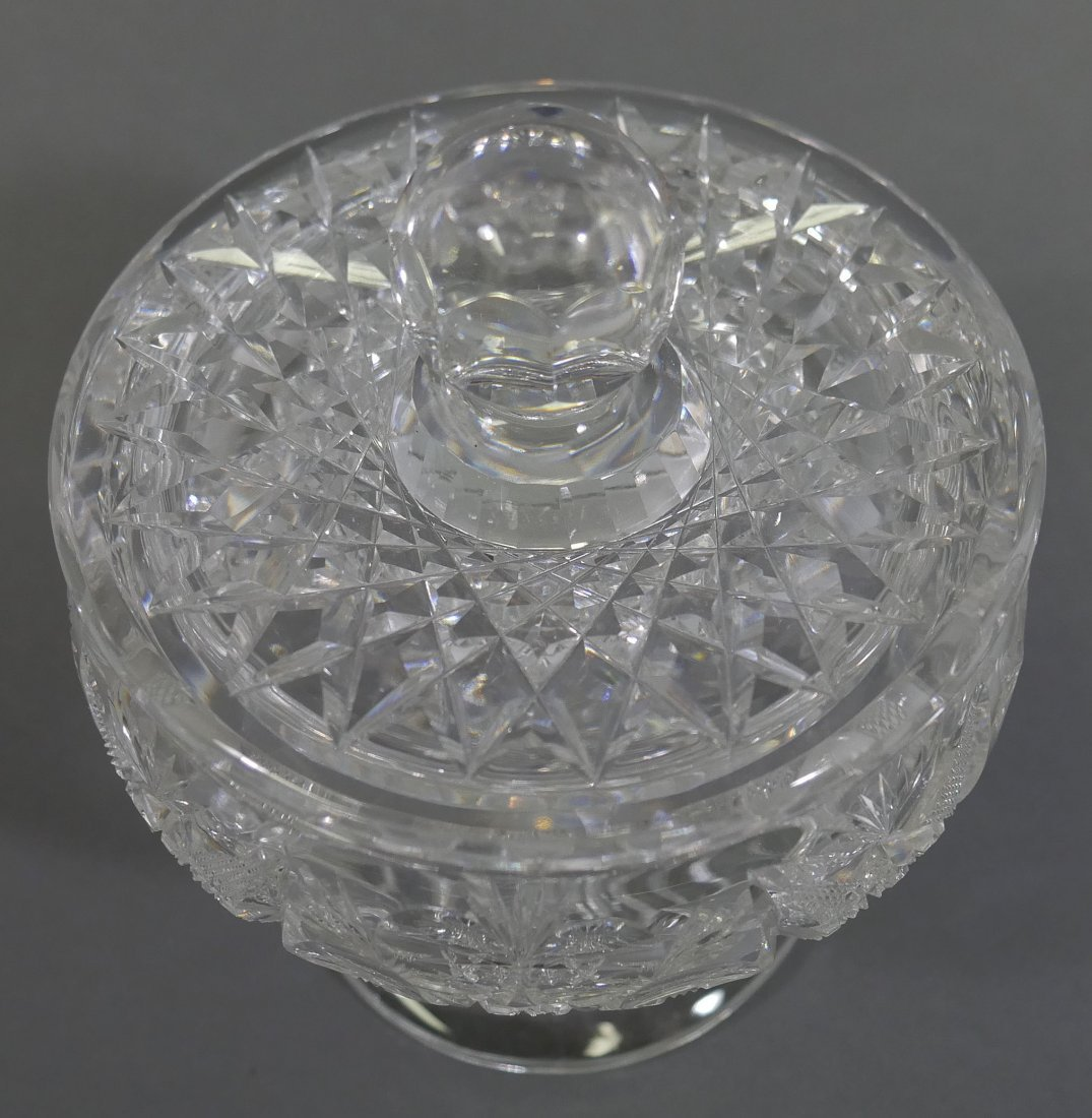 TUTHILL ABP Cut Glass FOOTED Creamer & Sugar - 8