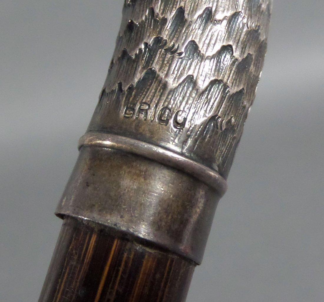 1899 Sterling Silver English BIRD Walking Stick - 5