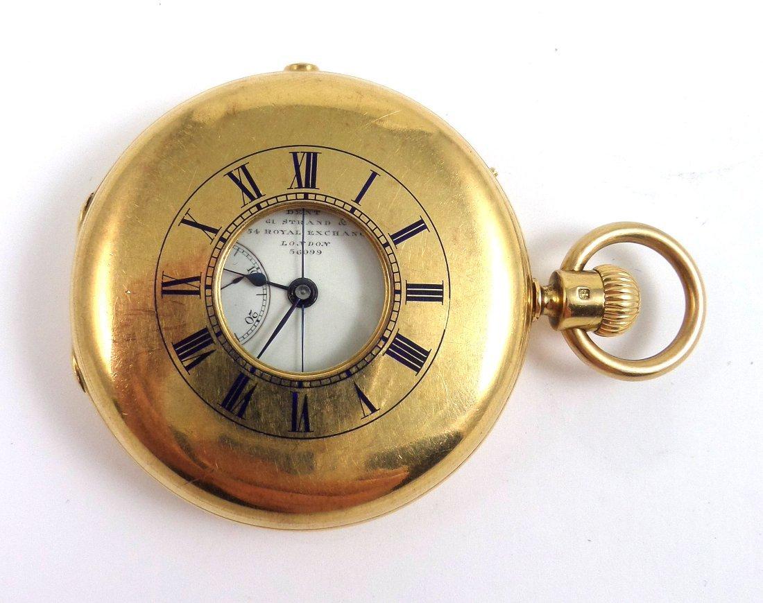 Rare EJ DENT 18k Half-Hunter Chronometer