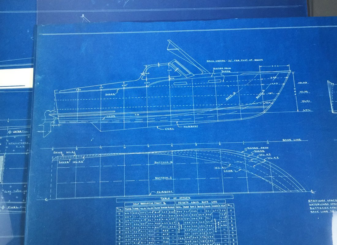 2 Sets of 1960s YACHT Boat Cruiser Blueprints