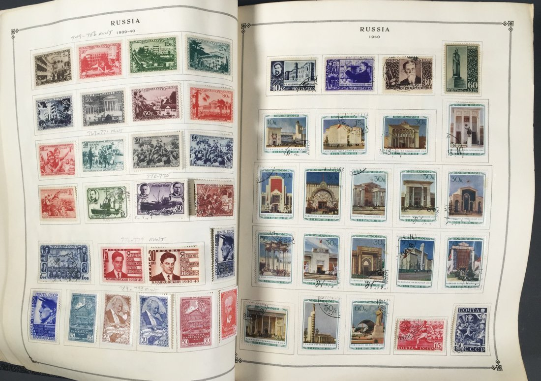Postage Stamp Collection, RUSSIA - 6