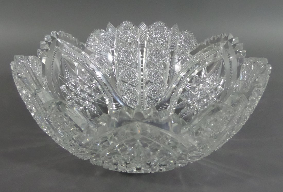 """HAWKES Signed Berry Bowl ABP 9-1/4"""" Cut Glass"""